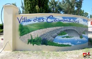 Décoration de l'entrée de la maison d'hôte de la villa des Cammaous à Vaquiers (34)