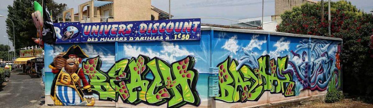 La fresque du Beach Bazaar