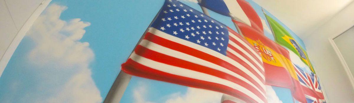 La chambre des drapeaux