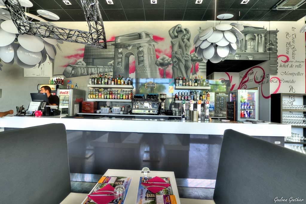 graffiti restaurant sur mesure