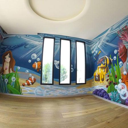 Graffiti sur les fonds marins