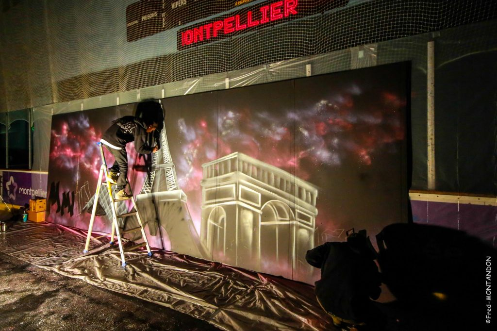 performance live graffeur montpellier