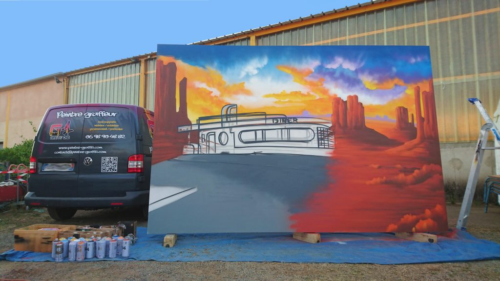fresque murale monument valley