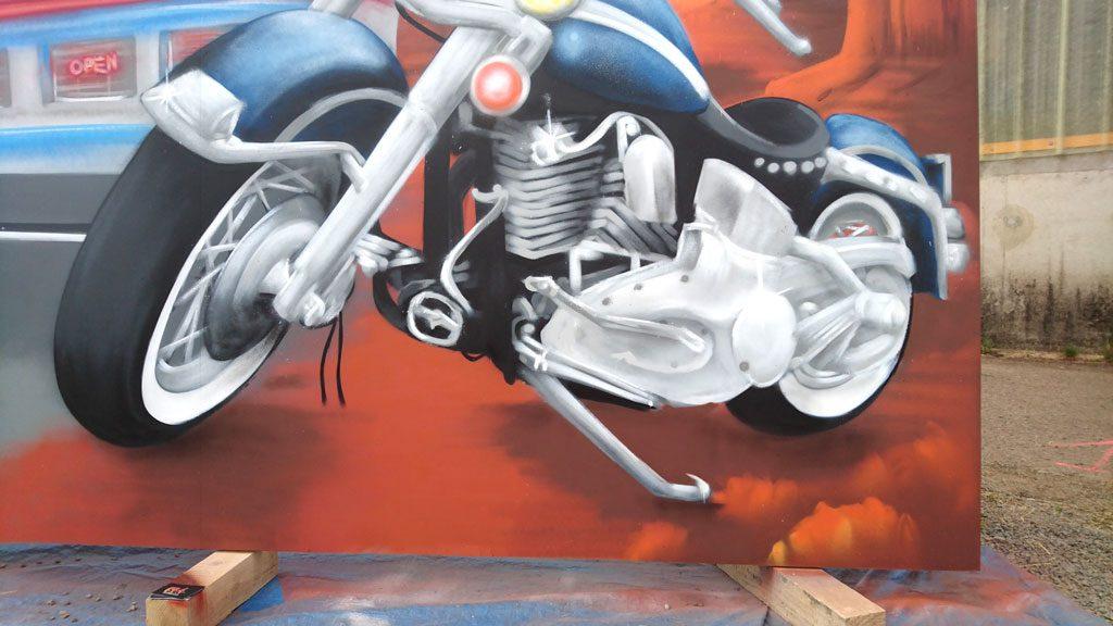 graffiti moto harley davidson