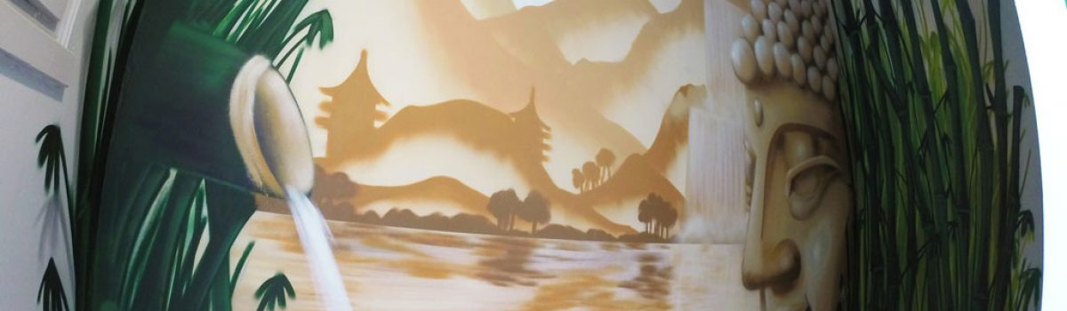 Fresque murale Zen