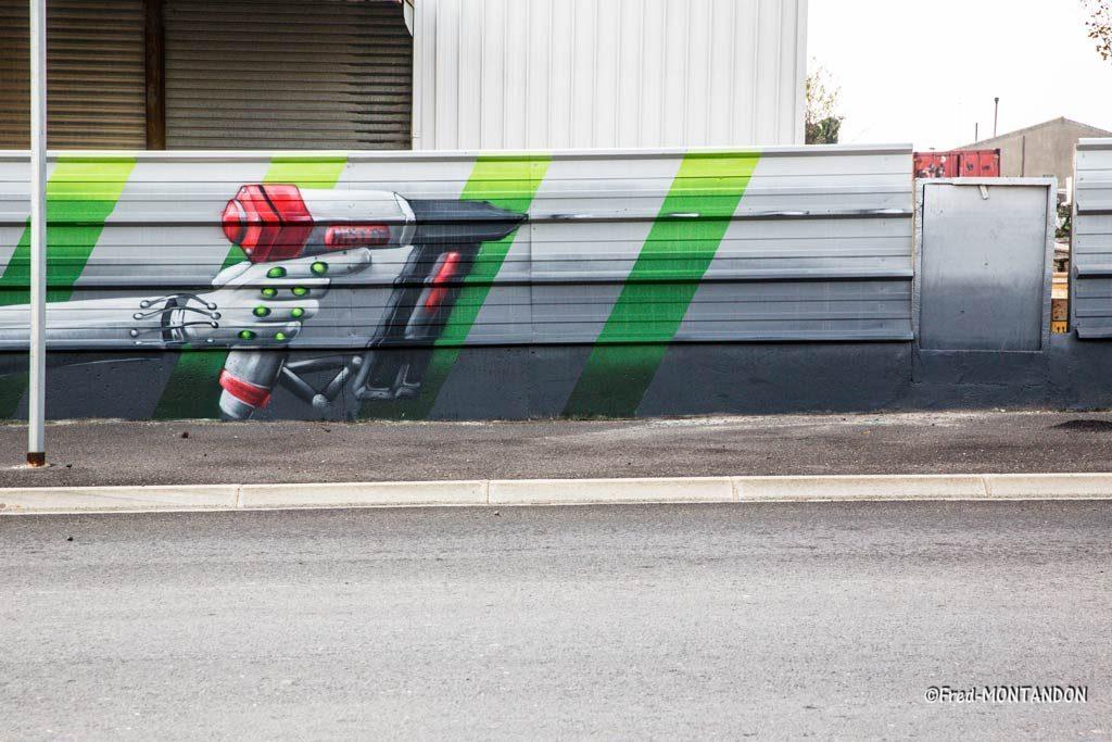 fresque murale graffiti beziers
