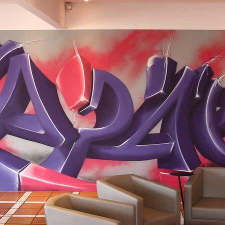 Graffiti pour l'Hôtel Capao