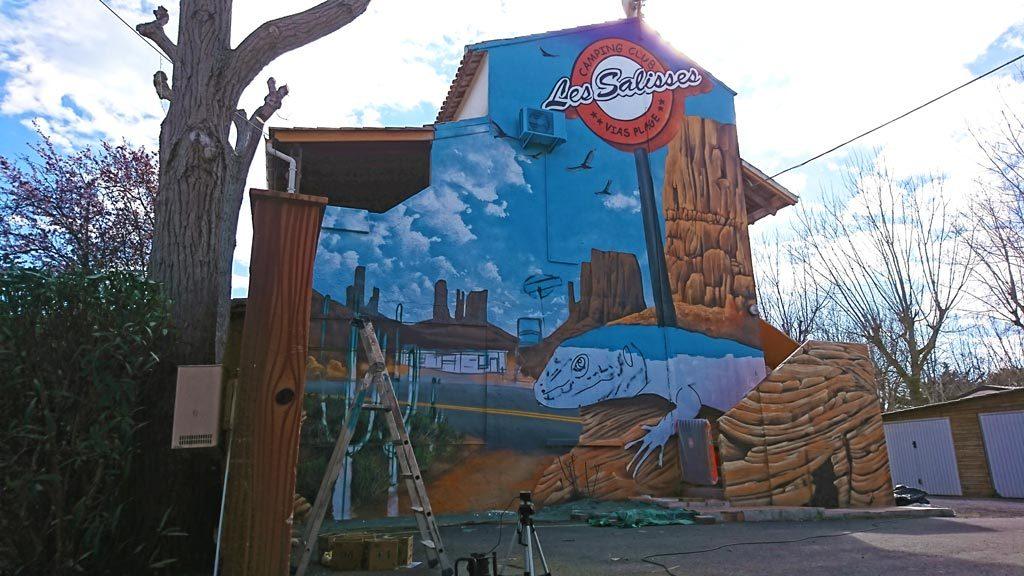 graffiti vias herault