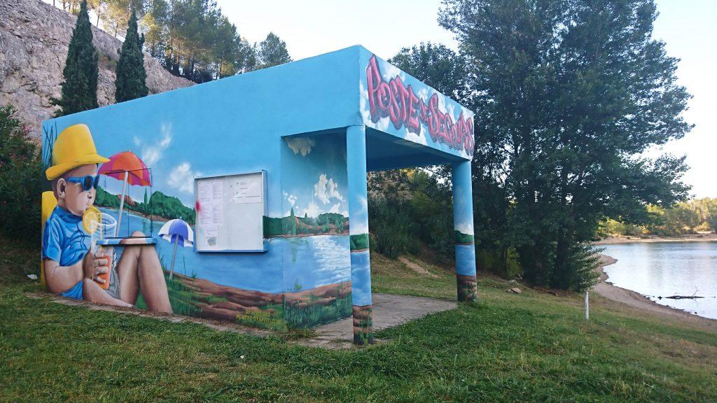 graffiti lac du cres