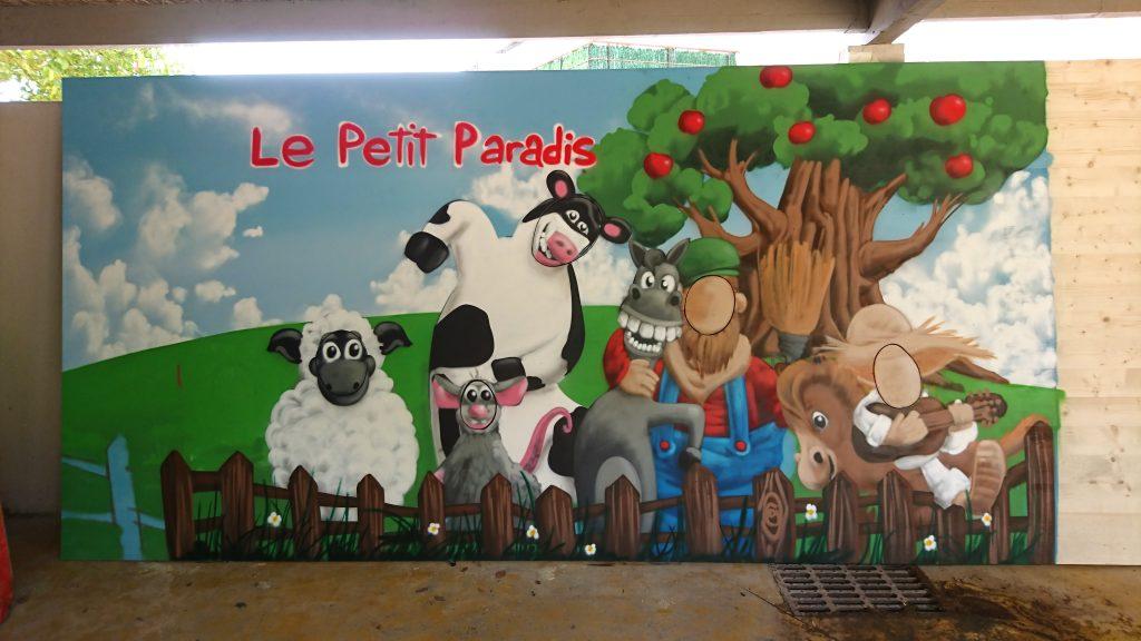 fresque murale loisirs