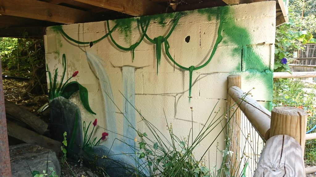 graffiti parc animalier