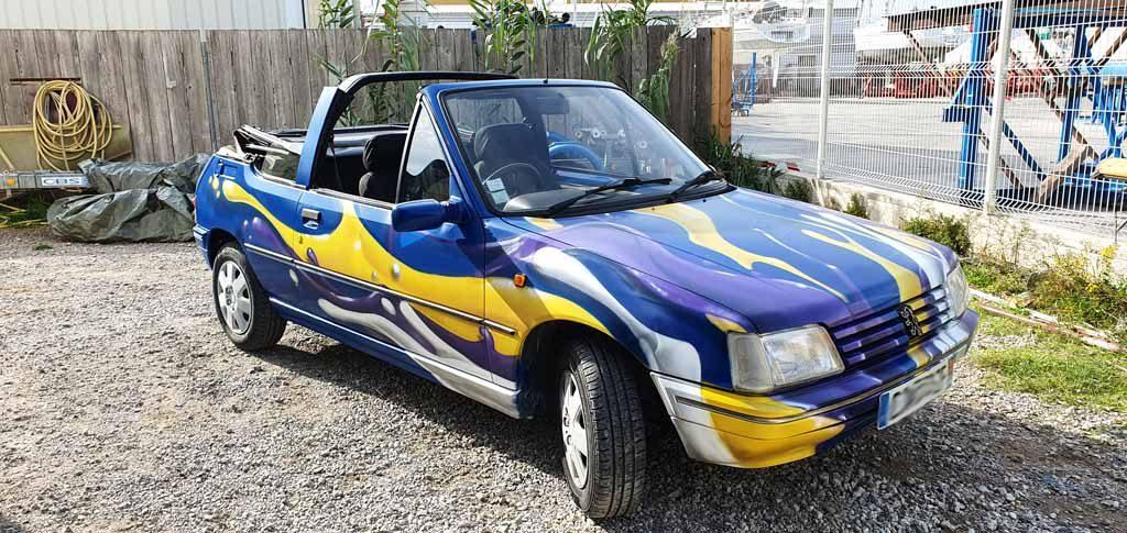 graffiti voiture herault